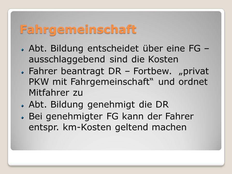 Fahrgemeinschaft Abt.