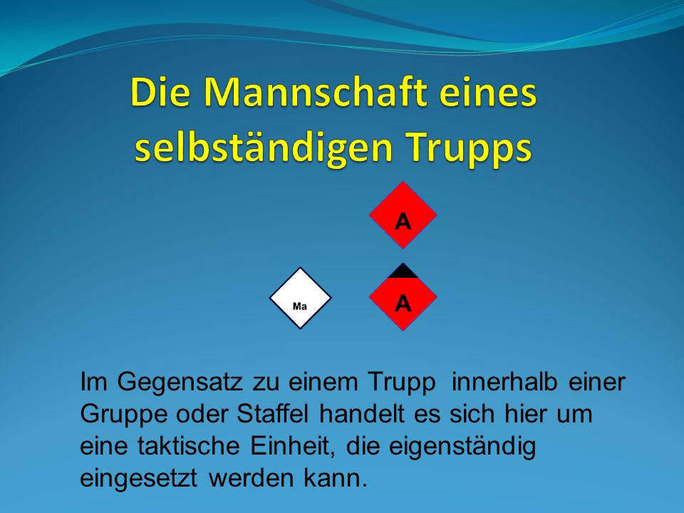 GruppenführerMaschinistAngriffstruppWassertrupp