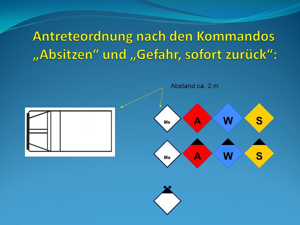 Zuerst sichert er die Einsatzstelle mit Hilfe von Warndreieck, Blinklichtern und Prilonen ab.
