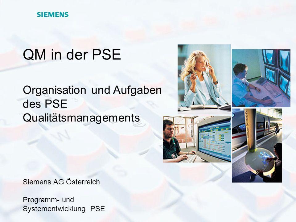 © Dr. Kurt Hofmann PSE QM / 23.05.2000 - Seite 1 P r o g r a m m - u n d S y s t e m e n t w i c k l u n g P S E QM in der PSE Organisation und Aufgab