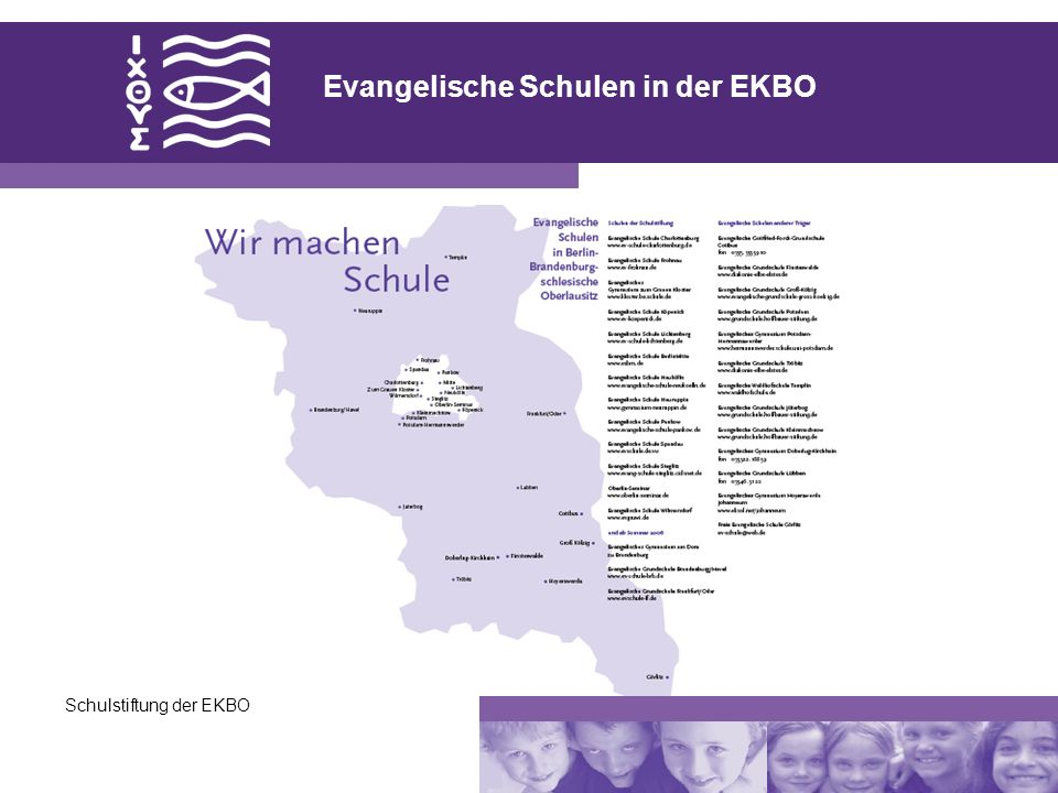 Schulstiftung der EKBO Evangelische Schulen in der EKBO