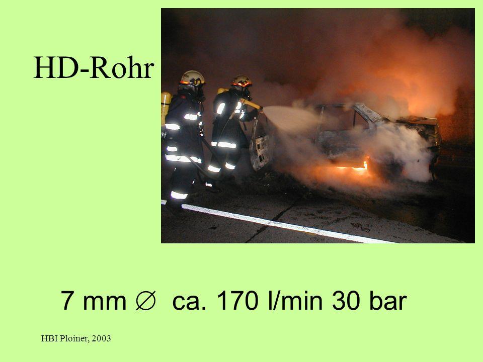 HBI Ploiner, 2003 7 mm ca. 170 l/min 30 bar HD-Rohr