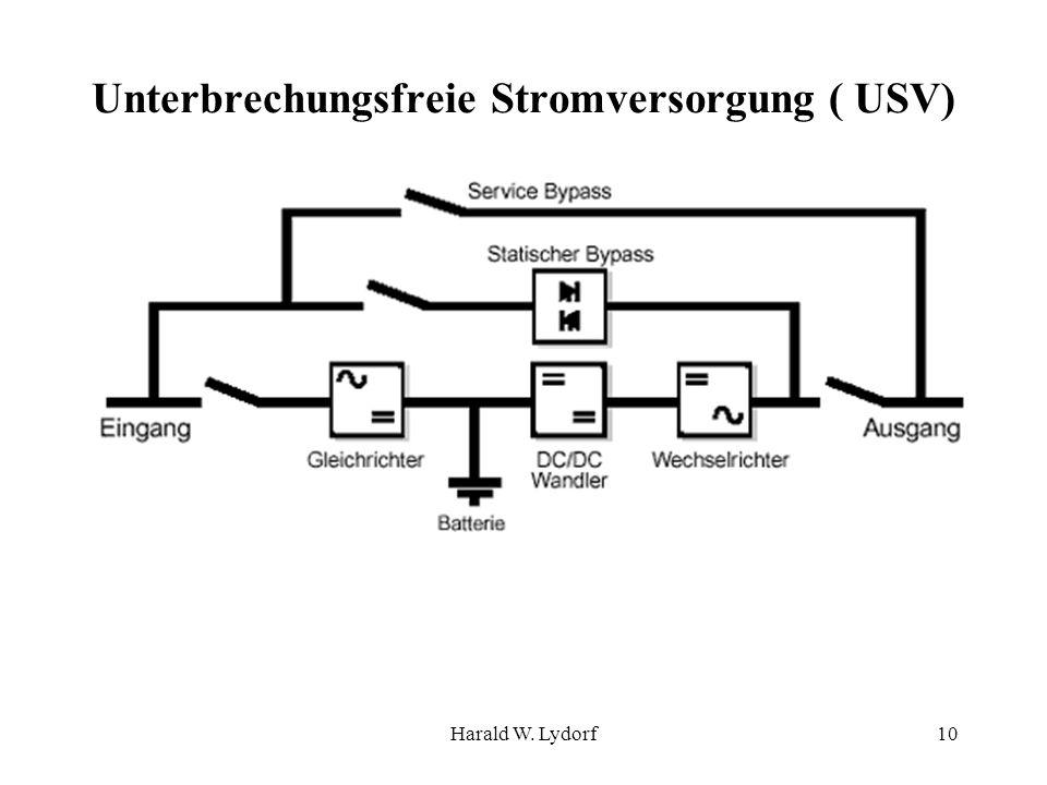 Harald W. Lydorf10 Unterbrechungsfreie Stromversorgung ( USV)