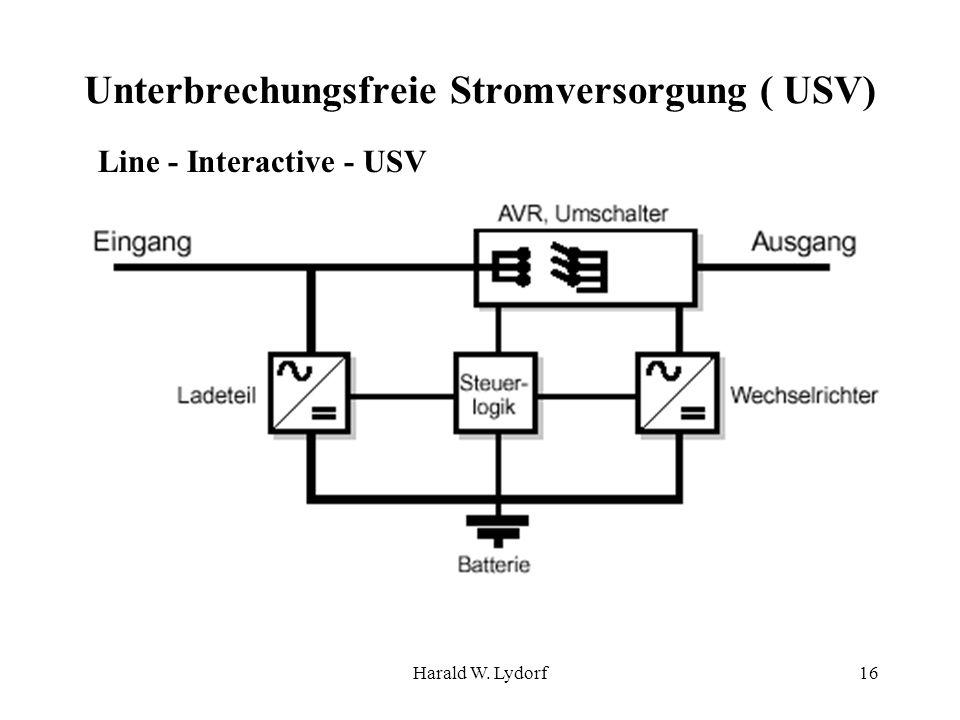 Harald W. Lydorf16 Unterbrechungsfreie Stromversorgung ( USV) Line - Interactive - USV