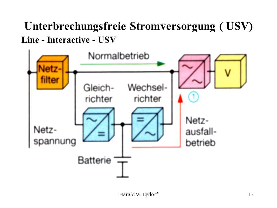 Harald W. Lydorf17 Unterbrechungsfreie Stromversorgung ( USV) Line - Interactive - USV