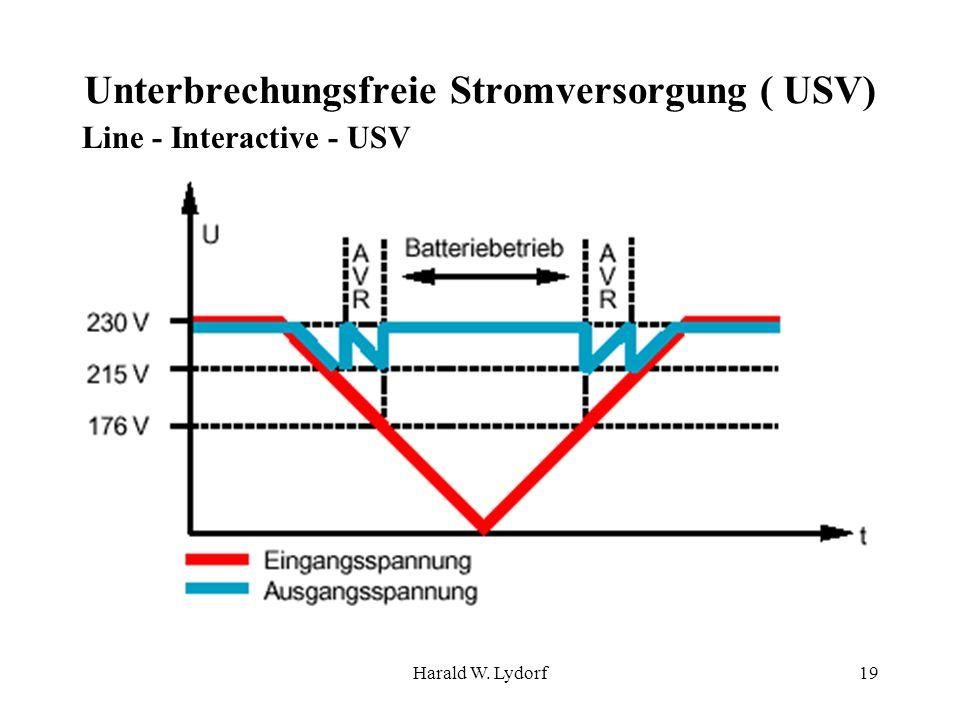 Harald W. Lydorf19 Unterbrechungsfreie Stromversorgung ( USV) Line - Interactive - USV