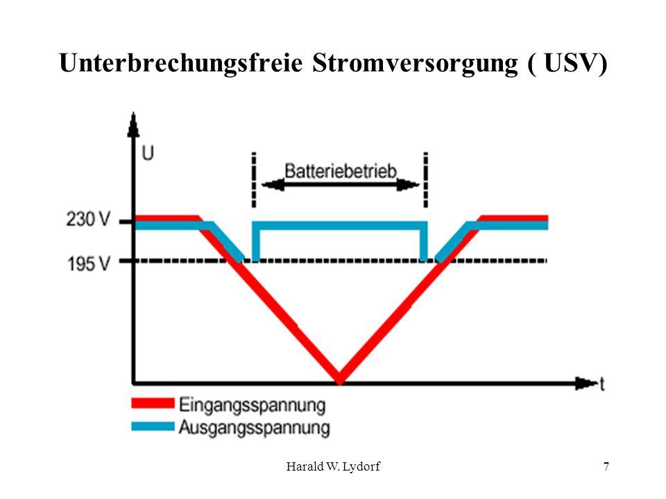 Harald W. Lydorf7 Unterbrechungsfreie Stromversorgung ( USV)
