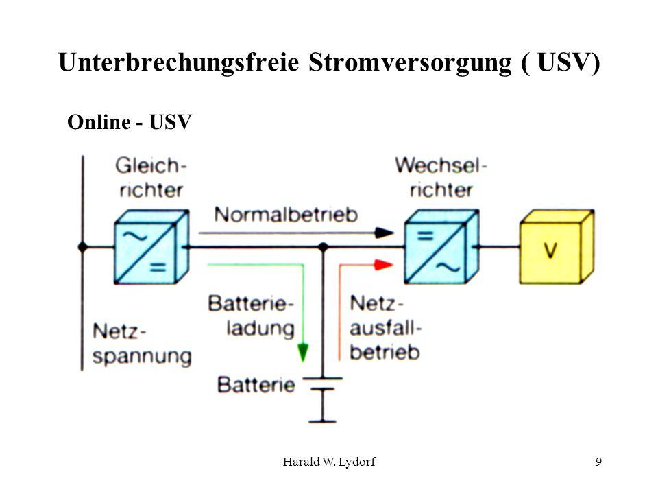 Harald W. Lydorf9 Unterbrechungsfreie Stromversorgung ( USV) Online - USV