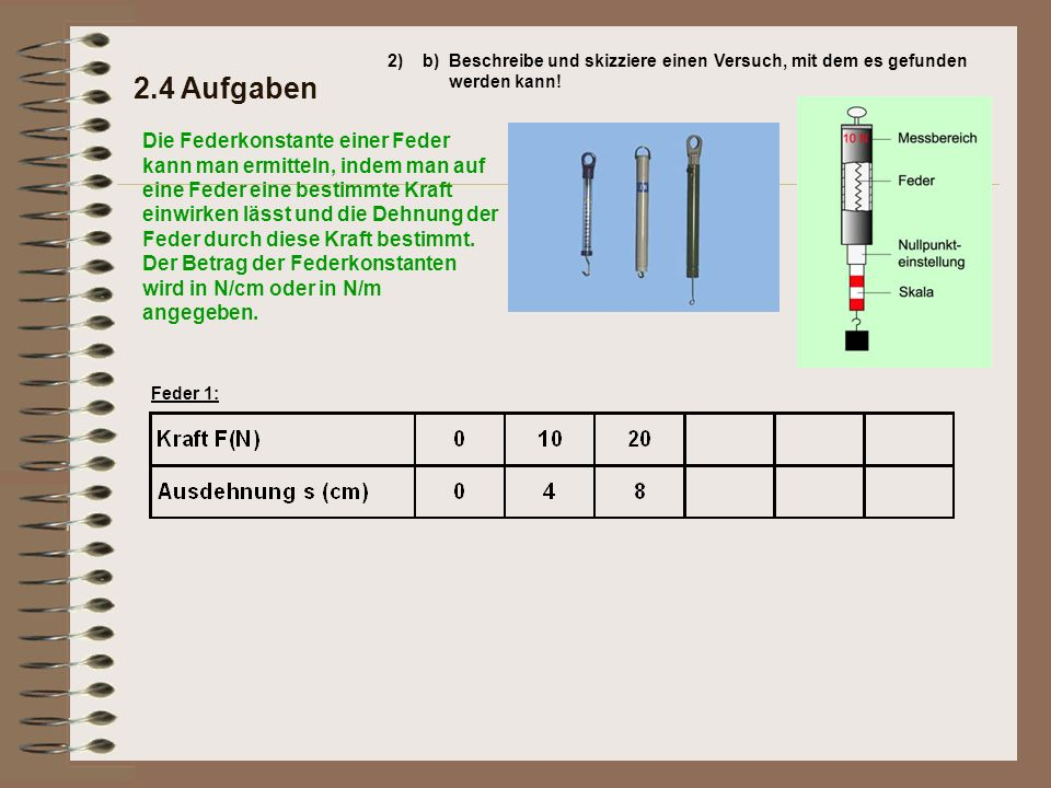 2.4 Aufgaben 2)b)Beschreibe und skizziere einen Versuch, mit dem es gefunden werden kann.