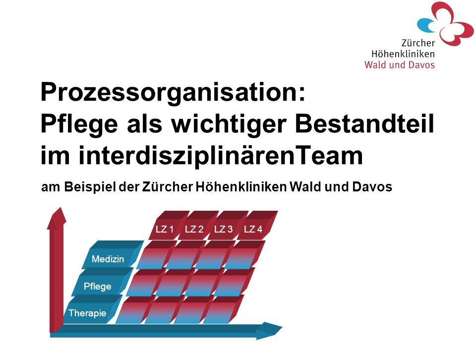 Prozessorganisation: Pflege als wichtiger Bestandteil im interdisziplinärenTeam Medizin Pflege Therapie LZ 1LZ 2LZ 3LZ 4 am Beispiel der Zürcher Höhen