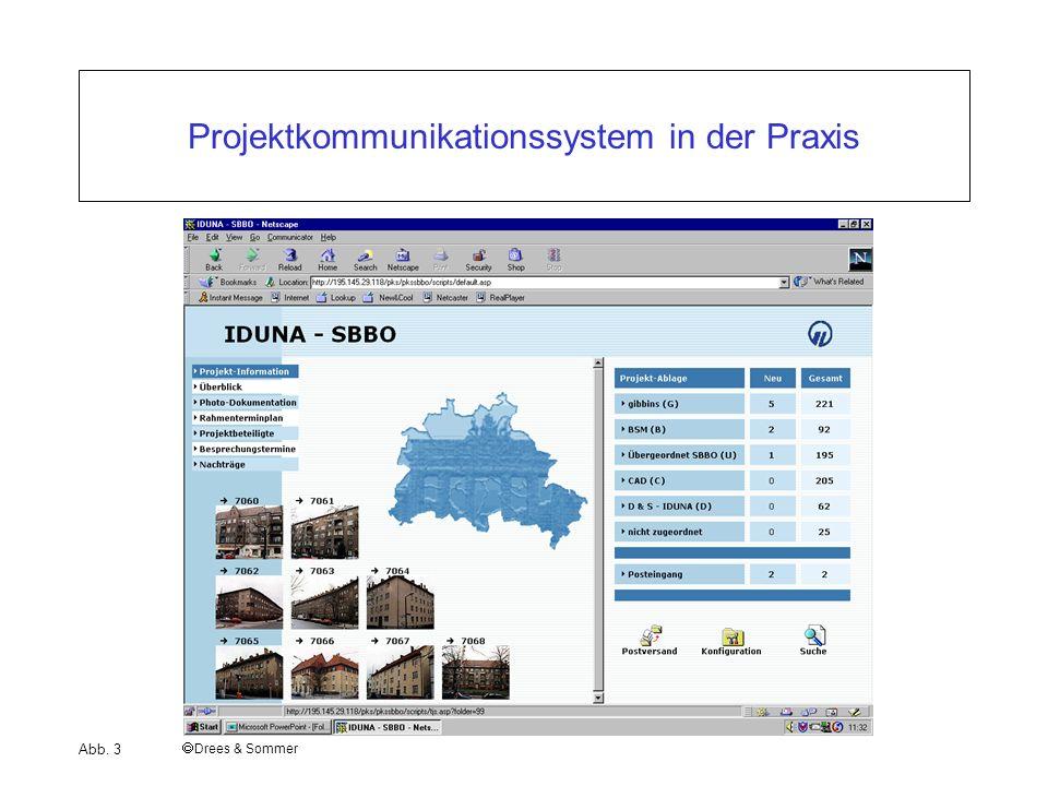 I Bauwirtschaft und Baubetrieb Projektkommunikationssystem in der Praxis Drees & Sommer Abb. 3