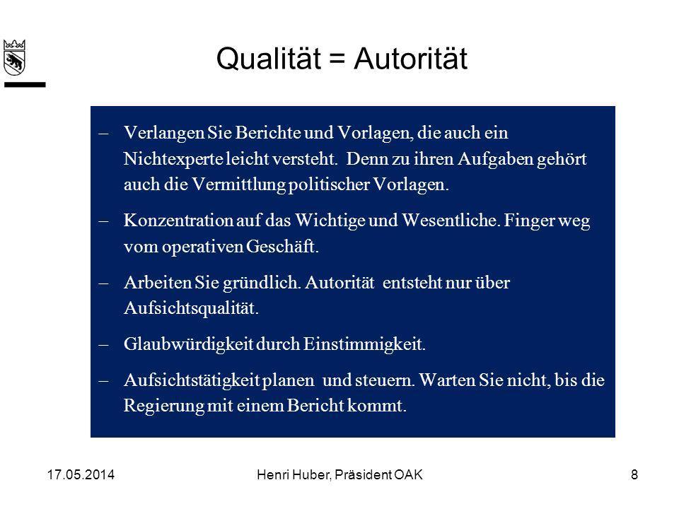Qualität = Autorität Verlangen Sie Berichte und Vorlagen, die auch ein Nichtexperte leicht versteht.