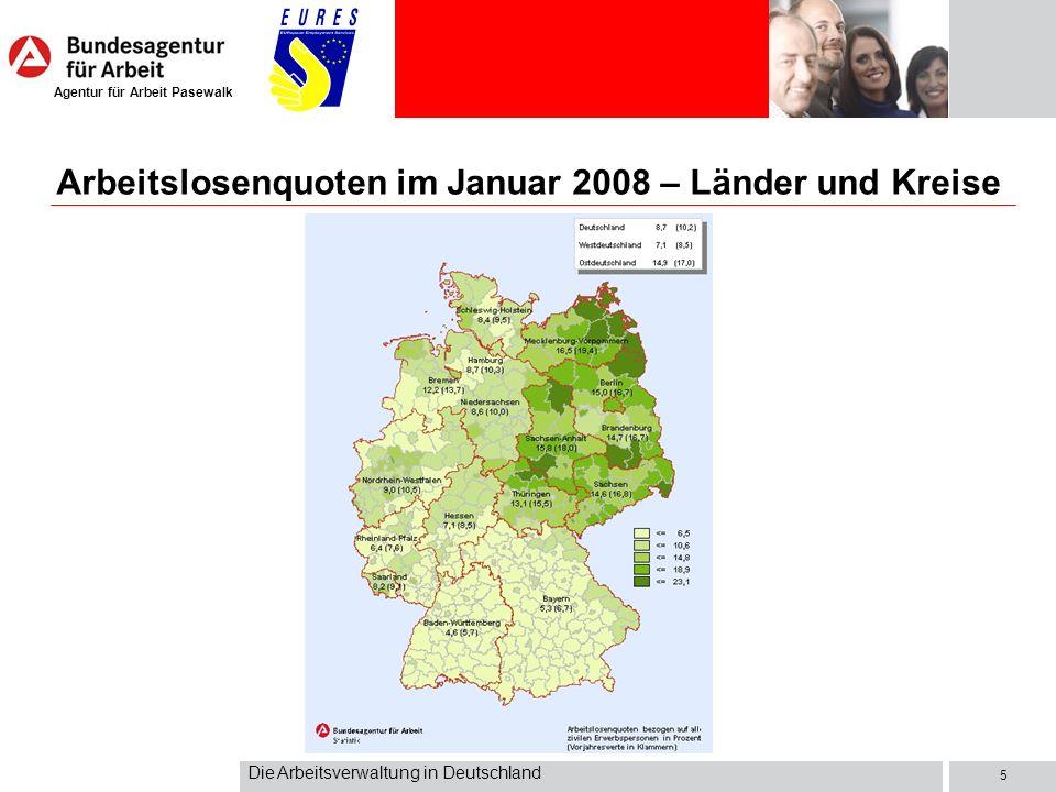 Agentur für Arbeit Pasewalk Die Arbeitsverwaltung in Deutschland 6 Errichtung der Reichsanstalt für Arbeitsvermittlung und Arbeitslosenversicherung (16.