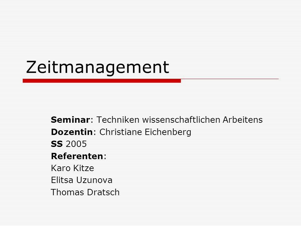 2.(g) Transfer Hier geht es um die Umsetzung der geplanten Zeitmanagementmaßnahmen in die Praxis.