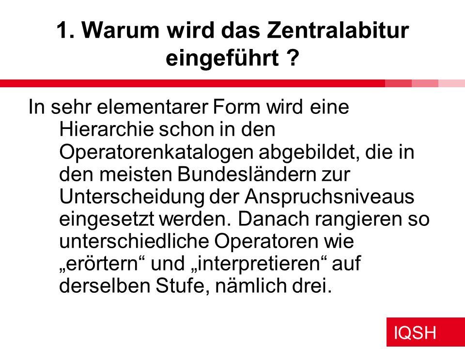 IQSH Themenspeicher für das Zentralabitur Anregung Heide 20.01.09 Themenkorridore Übergreifender Korridor: 12.1.