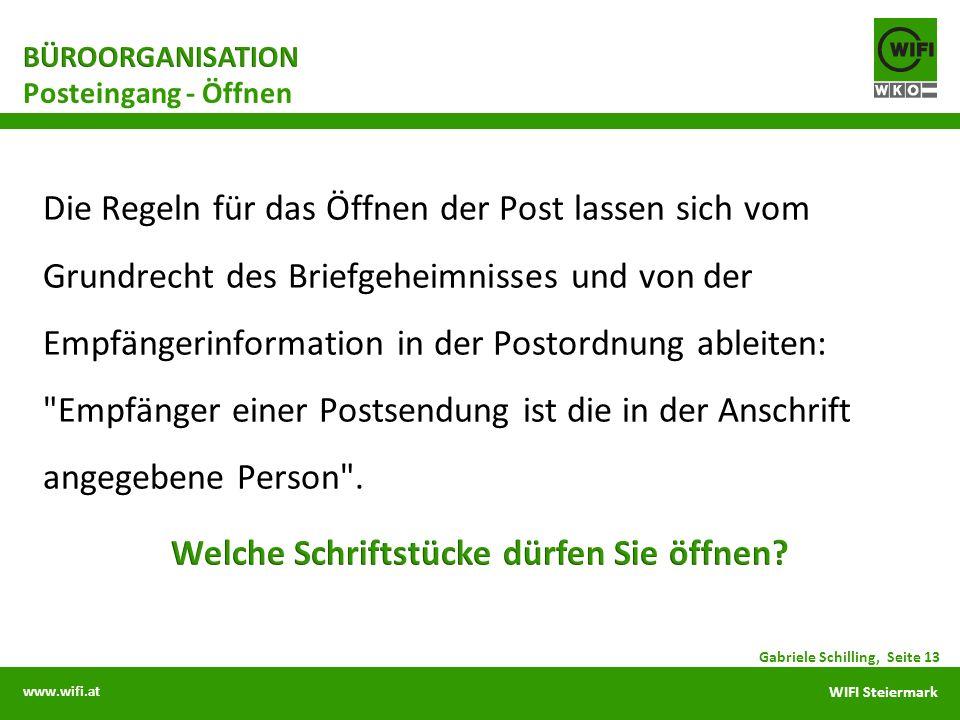 www.wifi.at WIFI Steiermark Posteingang - Öffnen Gabriele Schilling, Seite 13