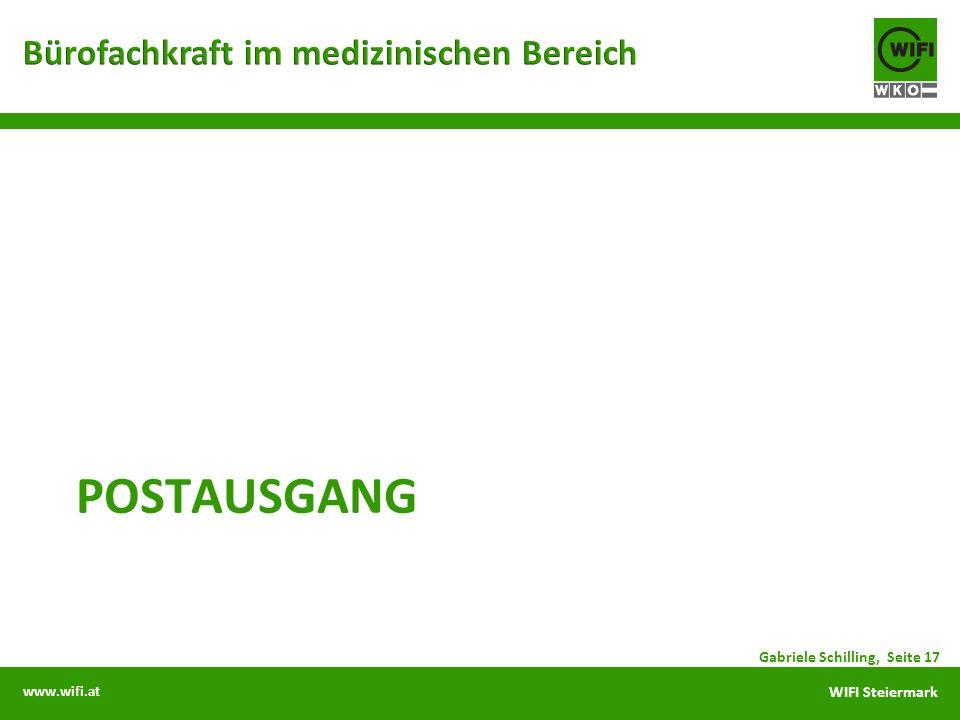 www.wifi.at WIFI Steiermark POSTAUSGANG Gabriele Schilling, Seite 17
