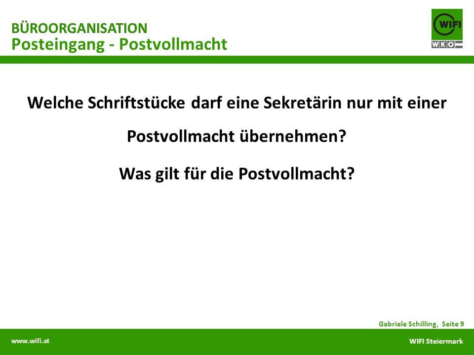 www.wifi.at WIFI Steiermark Posteingang - Postvollmacht Gabriele Schilling, Seite 9