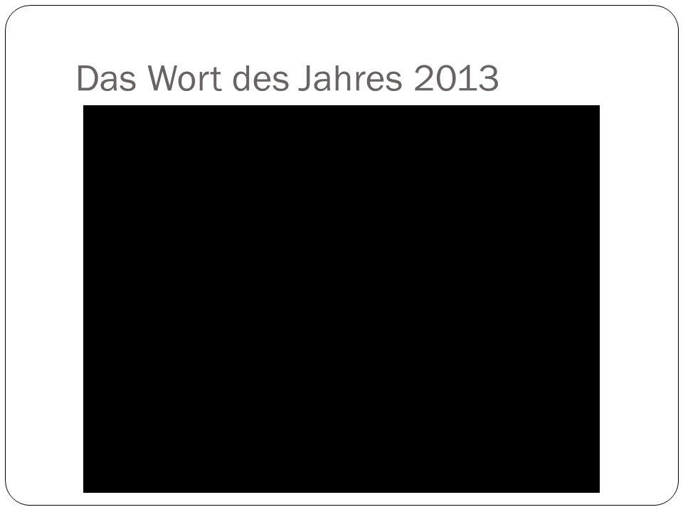 Das Wort des Jahres 2013
