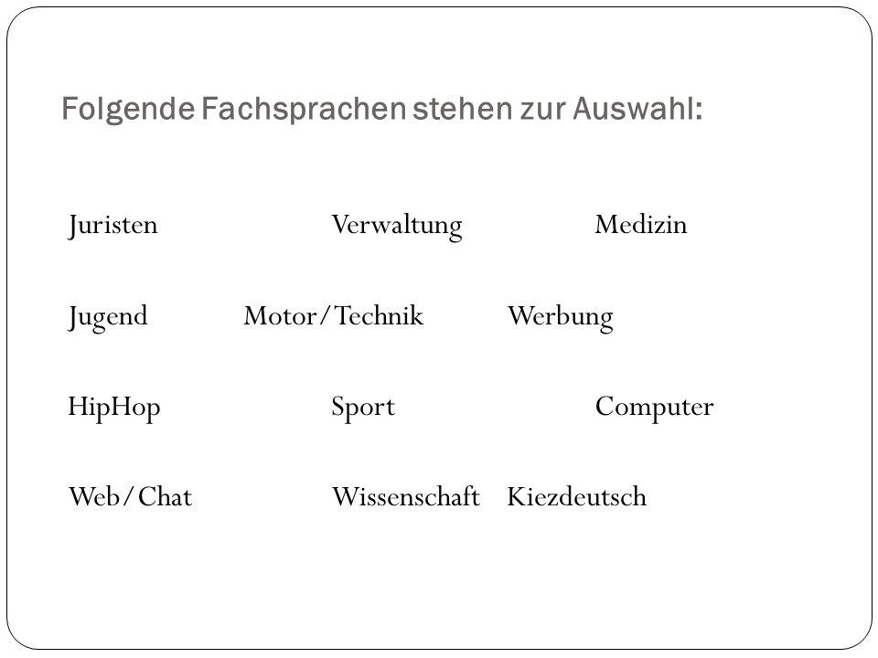 (Un-)Wörter im Deutschen Wie wird das Wort des Jahres bestimmt.