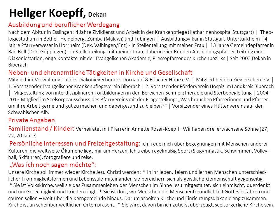 Ausbildung und beruflicher Werdegang Nach dem Abitur in Esslingen: 4 Jahre Zivildienst und Arbeit in der Krankenpflege (Katharinenhospital Stuttgart)