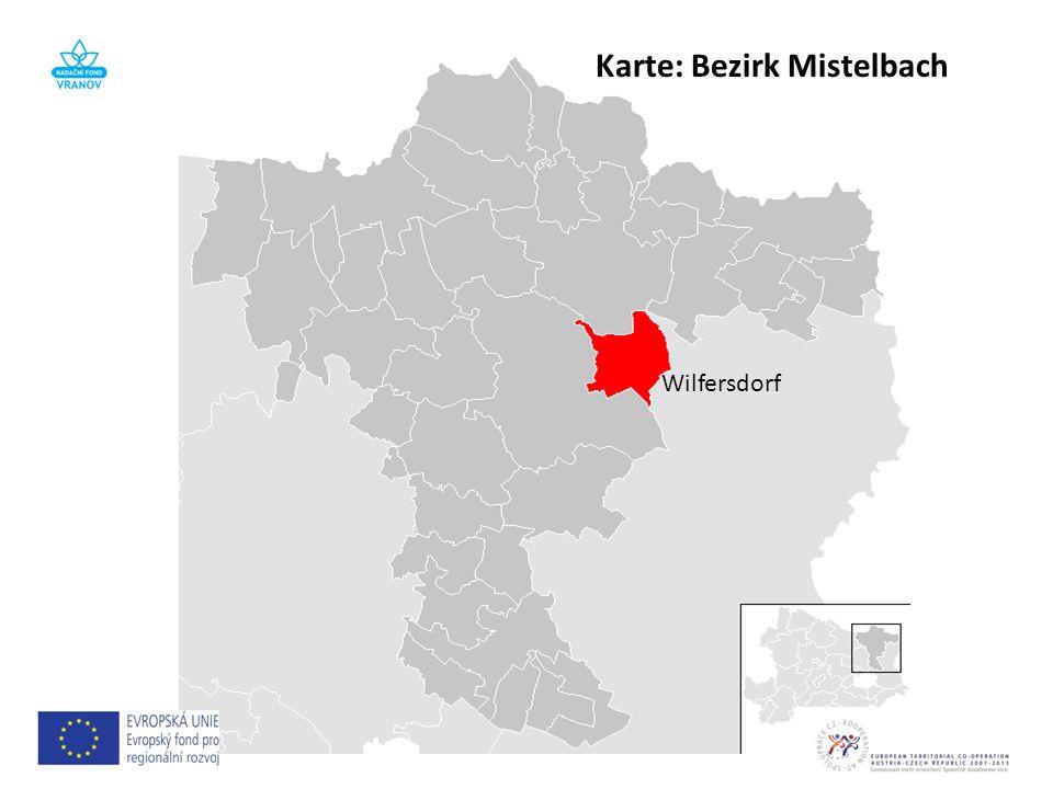 Karte: Bezirk Mistelbach Wilfersdorf