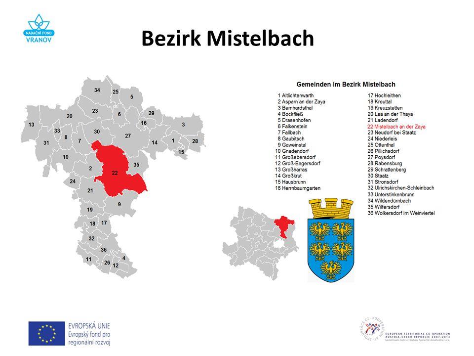 BundeslandNiederösterreich VerwaltungssitzMistelbach Fläche1291,30 km² Einwohner73.959 (1.