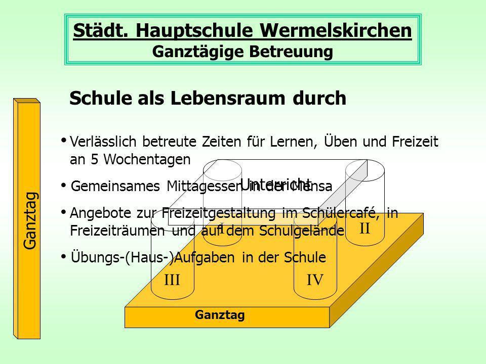 Ganztag III III IV Unterricht III Städt.