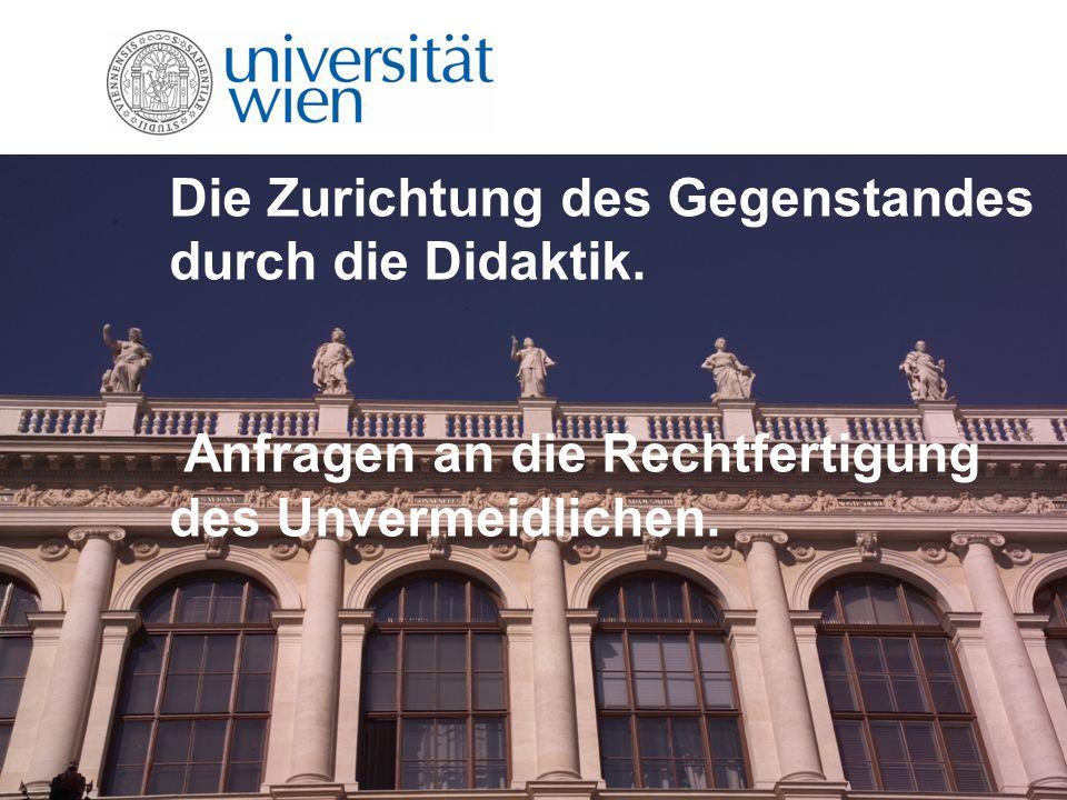 Überblick Trans-Disziplinärer Diskussionsanstoß an der Grenze der Disziplin Bildungswissenschaft Annahme: Gem.