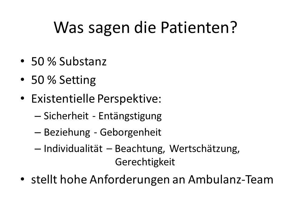 Was sagen die Patienten.