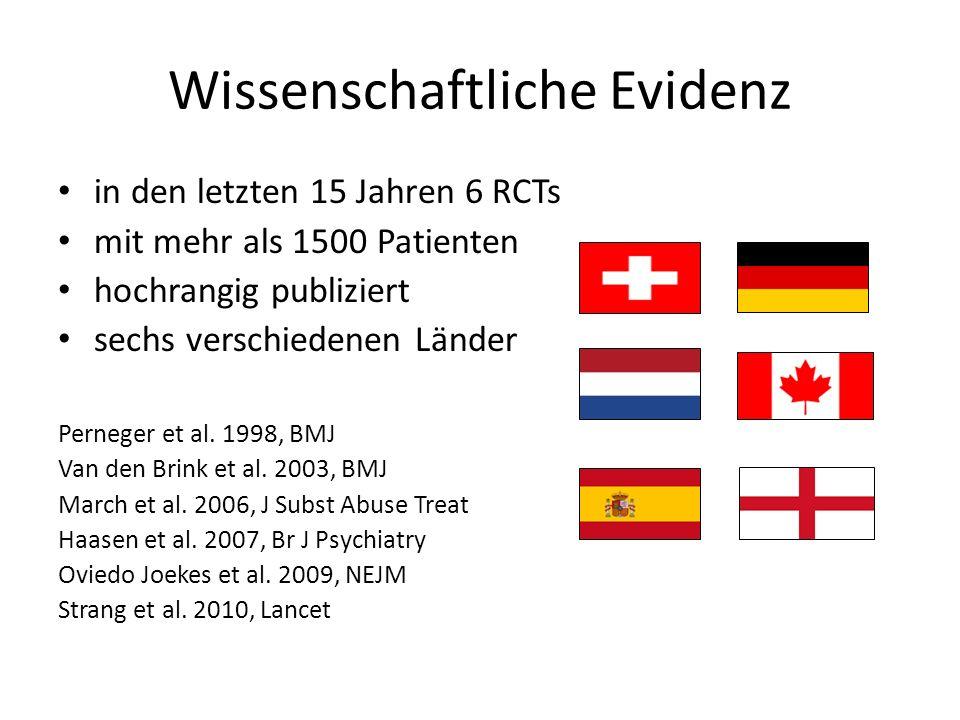 Wissenschaftliche Evidenz in den letzten 15 Jahren 6 RCTs mit mehr als 1500 Patienten hochrangig publiziert sechs verschiedenen Länder Perneger et al.