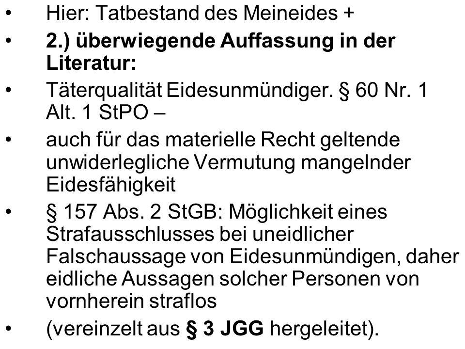 Tatkomplex: Die Tropfen im Wein A.Strafbarkeit des Z I.