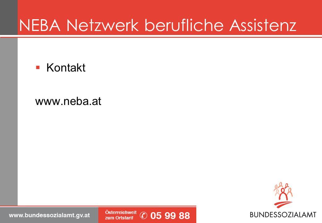 NEBA Netzwerk berufliche Assistenz Kontakt www.neba.at