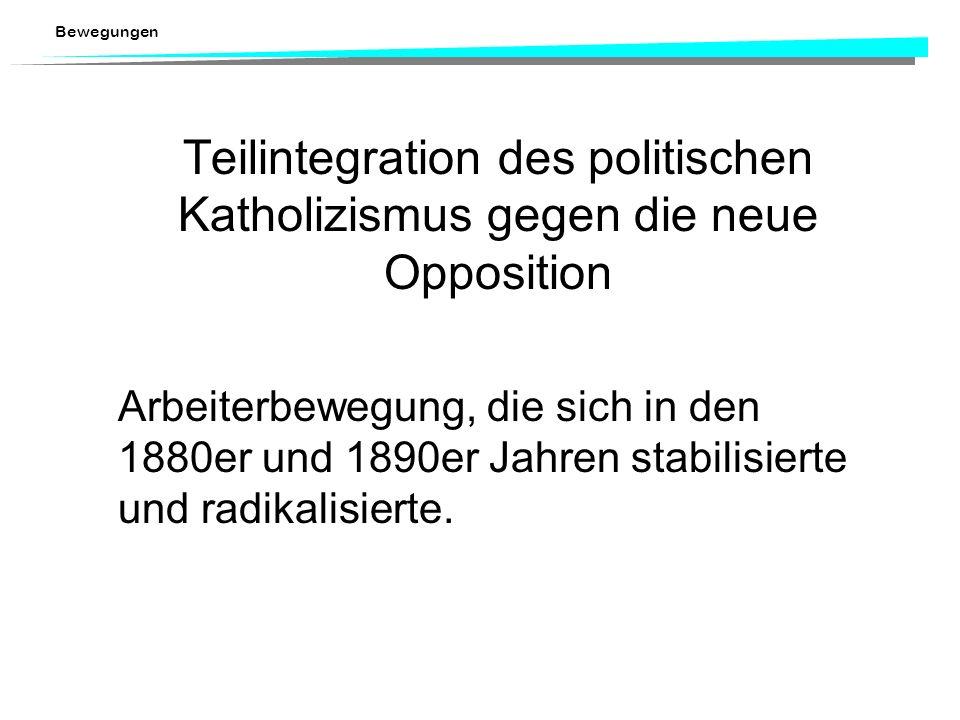 Bewegungen Partialrevision der Bundesverfassung 1874 (Einführung Referendum) Verfassungskämpfe im Kontext des Kulturkampfes zwischen der demokratische