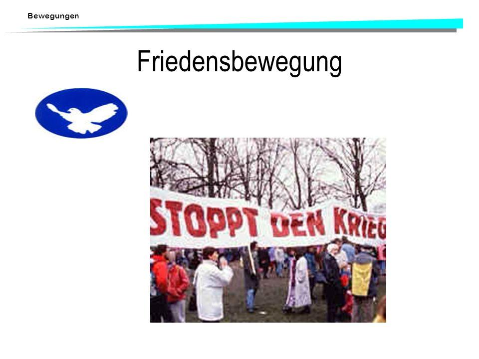 Bewegungen Soziale Bewegungen in der Schweiz Bewegungen waren auch in der Schweiz Grundlage für Herausbildung und Gestaltung der politischen Institutionen und die Institutionalisierung der politischen Akteure