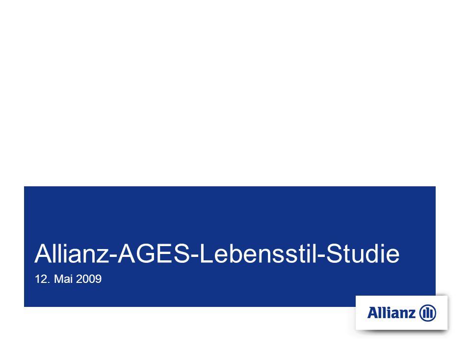 Allianz-AGES-Lebensstil-Studie 12. Mai 2009
