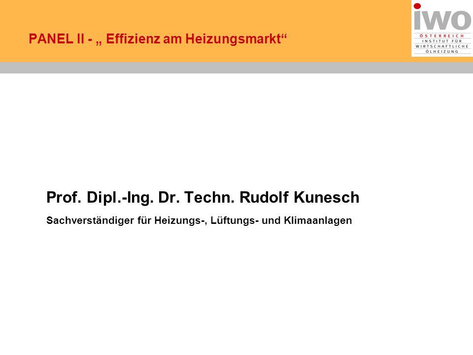 PANEL II - Effizienz am Heizungsmarkt Prof.Dipl.-Ing.