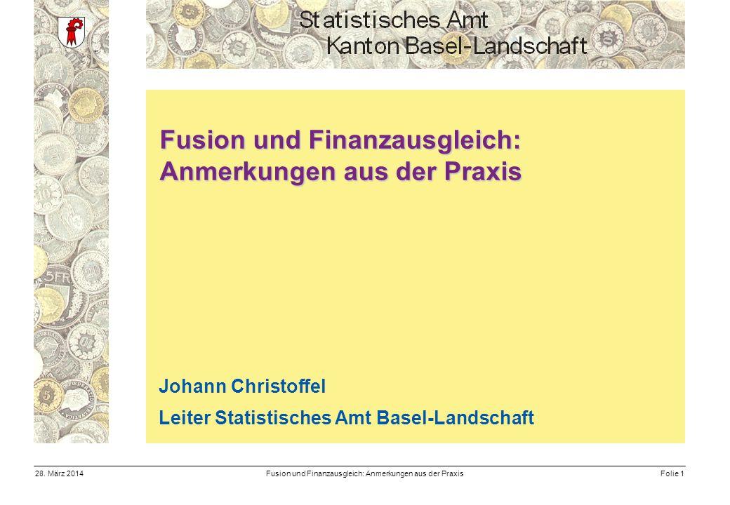 Fusion und Finanzausgleich: Anmerkungen aus der PraxisFolie 128.