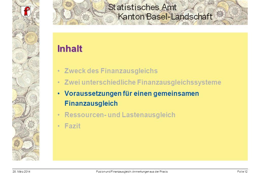 Fusion und Finanzausgleich: Anmerkungen aus der PraxisFolie 1228.
