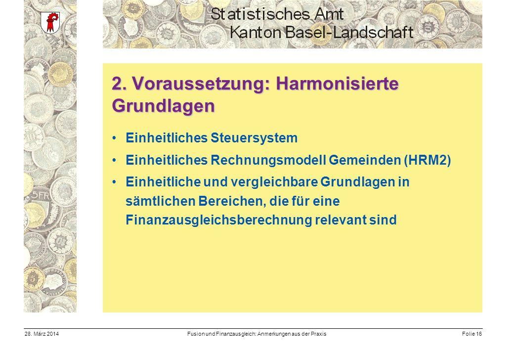 Fusion und Finanzausgleich: Anmerkungen aus der PraxisFolie 1628.
