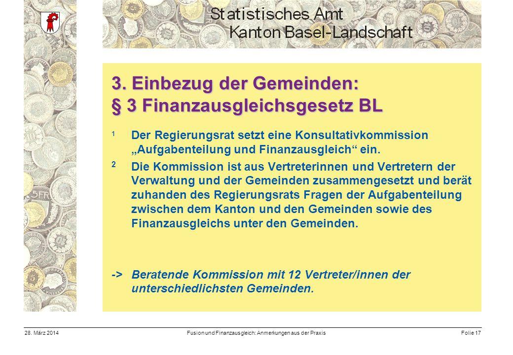 Fusion und Finanzausgleich: Anmerkungen aus der PraxisFolie 1728.