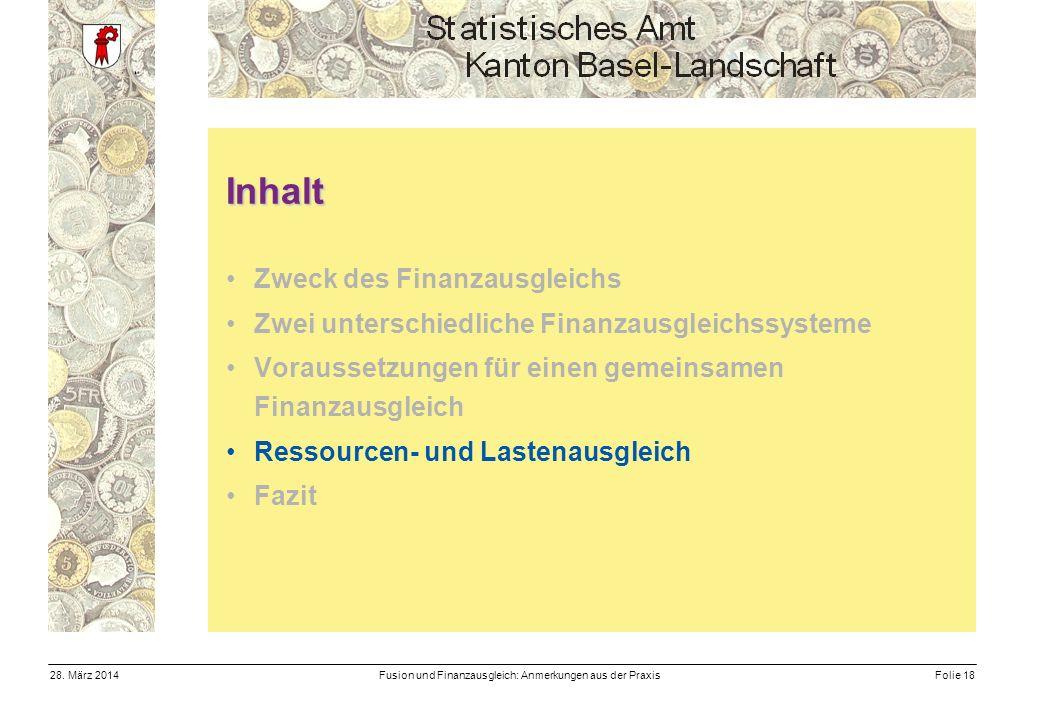 Fusion und Finanzausgleich: Anmerkungen aus der PraxisFolie 1828.