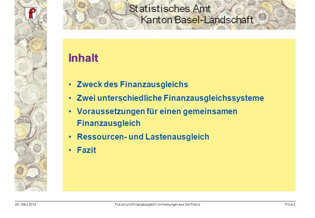 Fusion und Finanzausgleich: Anmerkungen aus der PraxisFolie 228.