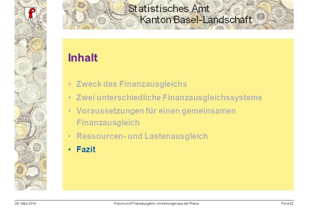 Fusion und Finanzausgleich: Anmerkungen aus der PraxisFolie 2228.