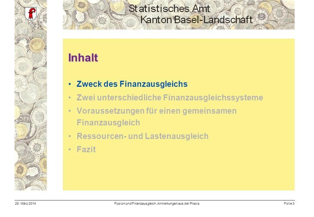 Fusion und Finanzausgleich: Anmerkungen aus der PraxisFolie 328.