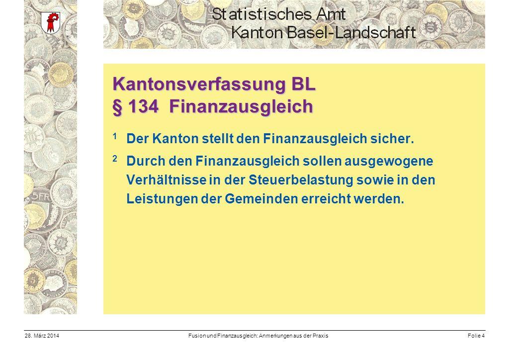 Fusion und Finanzausgleich: Anmerkungen aus der PraxisFolie 428.