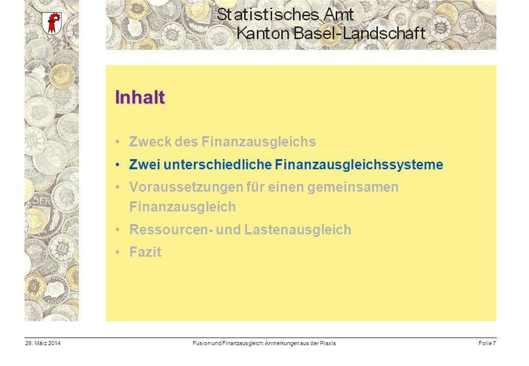 Fusion und Finanzausgleich: Anmerkungen aus der PraxisFolie 728.