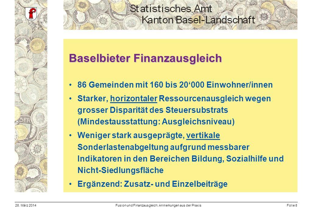 Fusion und Finanzausgleich: Anmerkungen aus der PraxisFolie 828.