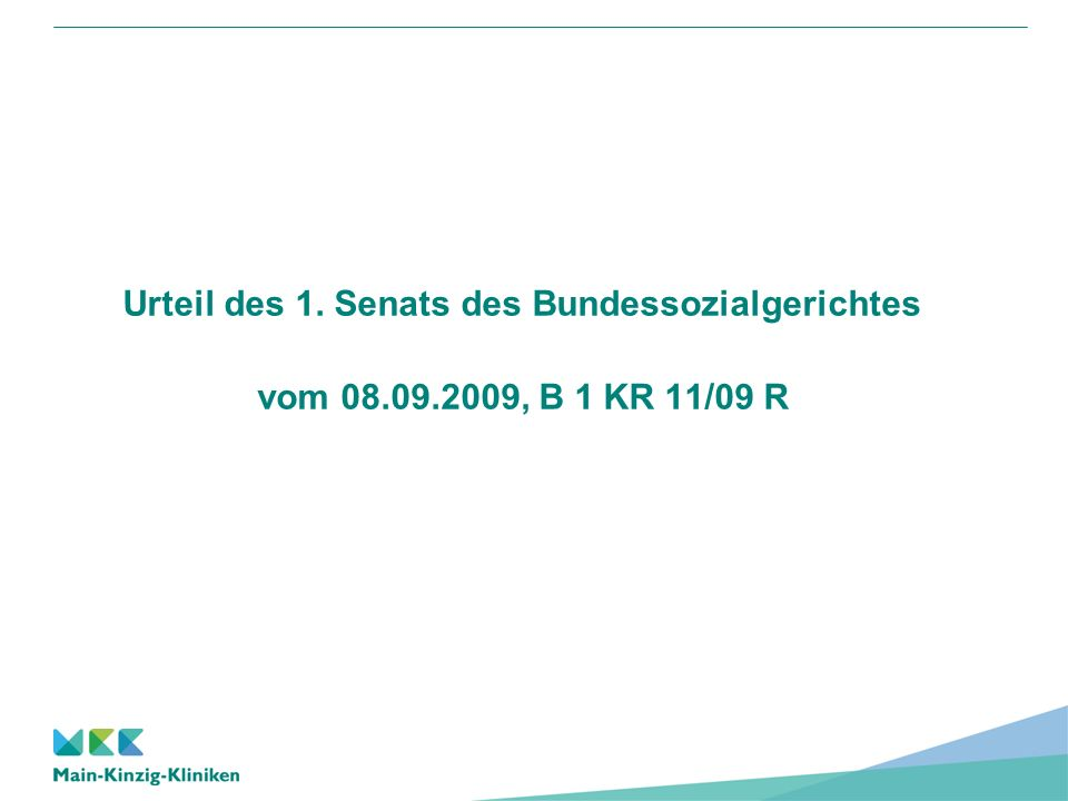 Urteil des 1. Senats des Bundessozialgerichtes vom 08.09.2009, B 1 KR 11/09 R