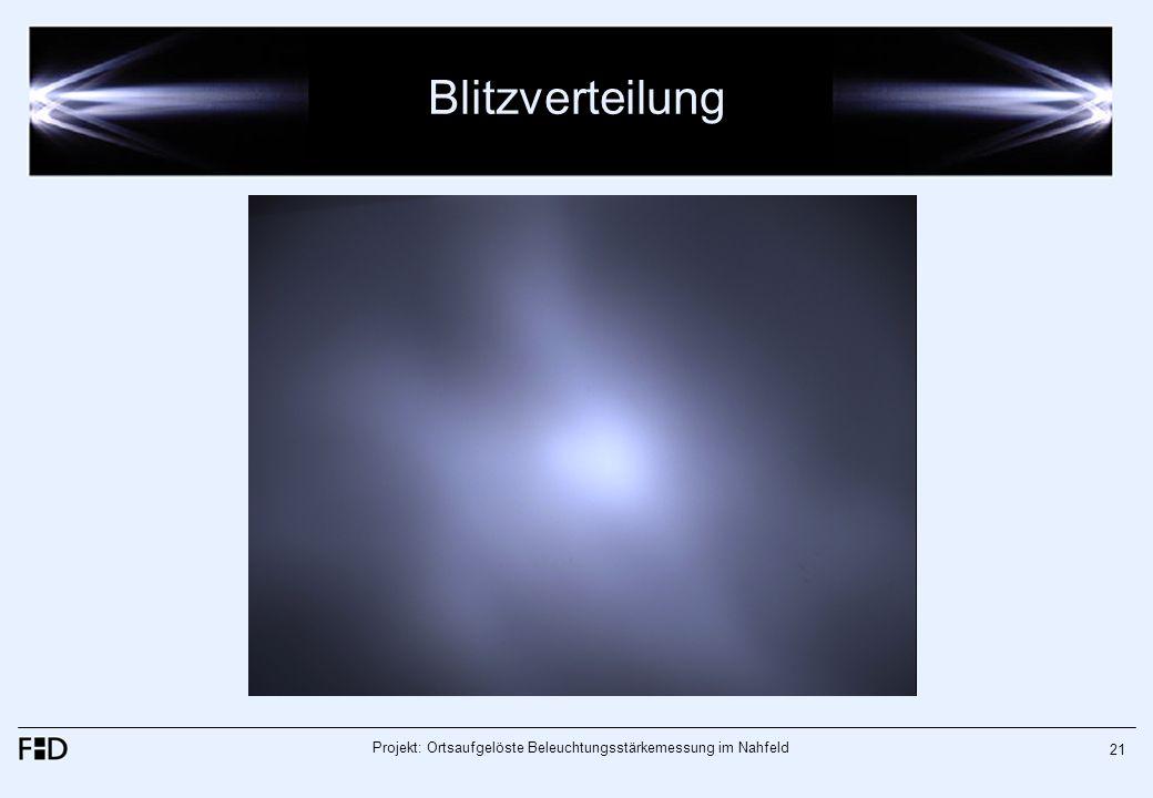 Projekt: Ortsaufgelöste Beleuchtungsstärkemessung im Nahfeld 21 Blitzverteilung